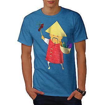 Año nuevo chino hombres real BlueT-camisa | Wellcoda