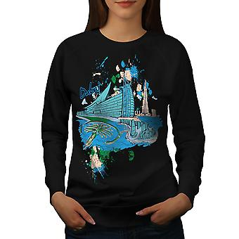 Dubai kvinner BlackSweatshirt | Wellcoda