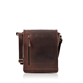 Keswick Flap Over Small Messenger Bag in Brown