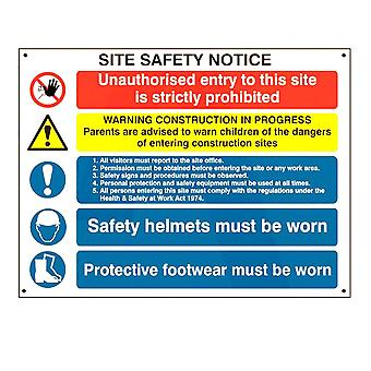 ASEC Composite Site Safety Poster 800mm X 600mm PVC Sign
