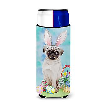 Pug Easter Bunny Michelob Ultra Hugger for slim cans