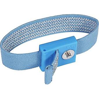 ESD wrist strap Light blue Wolfgang Warmbier 3 m