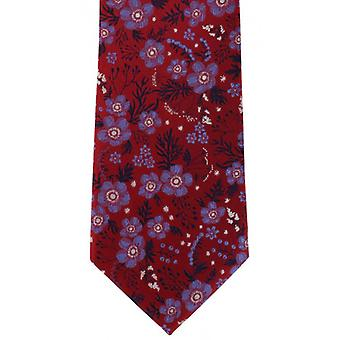 Michelsons of London Classic Floral Silk Tie - Red