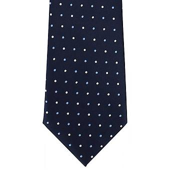 Michelsons of London Bold Spot Polyester Tie - Blue