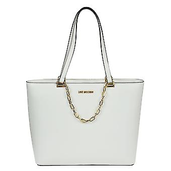 Love Moschino ladies JC4350PP05K70100 White leather tote