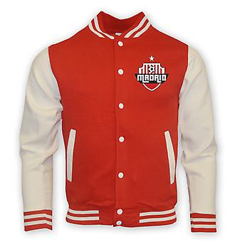 Atletico Madrid College Baseball Jacket (red)