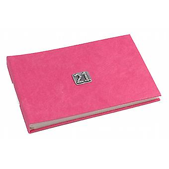 21 Celebration Fushia Pink Pocket Photo Album