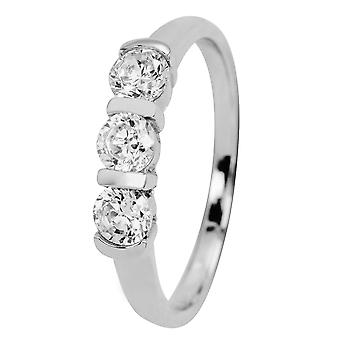 Burgmeister women's ring JBM2009-111, 925 sterling silver rhodanized, white zirconia