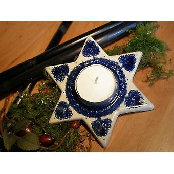 Star as a tea light, tradition, Bunzlau pottery, 2nd choice - BSN 0203