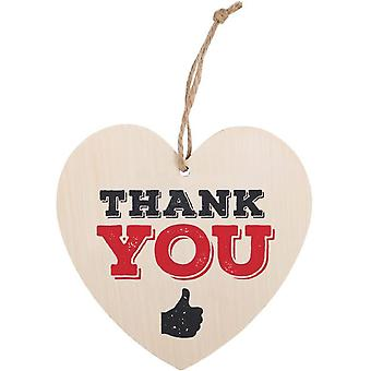 Something Different Thank You Hanging Heart Sign