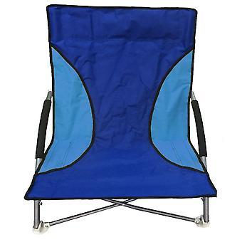 Plegable playa Camping pesca silla jardín silla asiento bajo azul