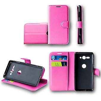WIKO Lenny 5 Pocket wallet premium pink protective sleeve case cover pouch new accessories