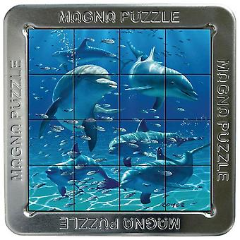 3D Magna Dolphins Magnetic Jigsaw Puzzle (16 Pieces)