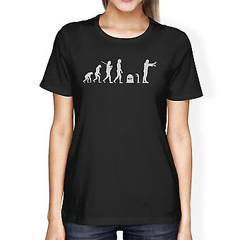 Evolution Zombie Tee Black Funny Halloween Zombie Shirt For Women