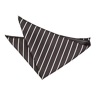 Negro y blanco solo rayas bolsillo cuadrado