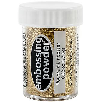 Stampendous Embossing Powder .62oz-Sparkly Jeweled Gold Transparent