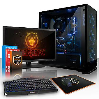 Fierce CYPHER Gaming PC, Fast Intel Core i7 8700K 4.5GHz, 1TB SSHD, 16GB RAM, GTX 1060 6GB