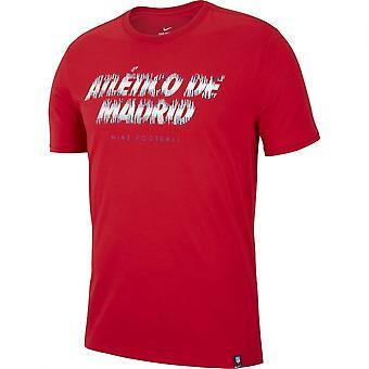 2018-2019 Atletico Madrid Nike Preseason Tee (Red)