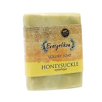 Natural, high quality, Cretan extra virgin olive oil honeysuckle soap 130gr