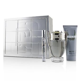 Paco Rabanne Invictus Coffret: Eau De Toilette Spray 100ml/3.4oz + All Over Shampoo 100ml/3.4oz + Eau De Toilette Spray 10ml/0.34oz 3pcs