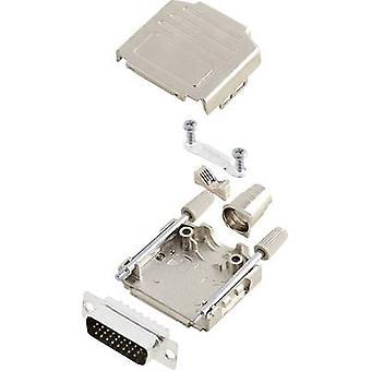 D-SUB pin strip set 180 ° Number of pins: 26 Solder bucket encitech DPPK15-M-HDP26-K 1 Set