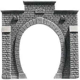 H0 Tunnel portal PROFI plus 1-track HR foam prefab, Painted NOCH 58051