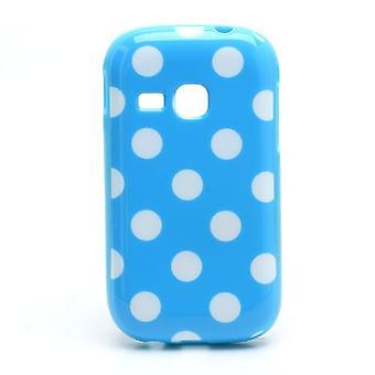 Housse pour mobile Samsung Galaxy jeune S6310 bleu clair