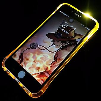 Custodia porta cellulare LED Licht chiamare telefono cellulare Apple iPhone 6s Plus gold