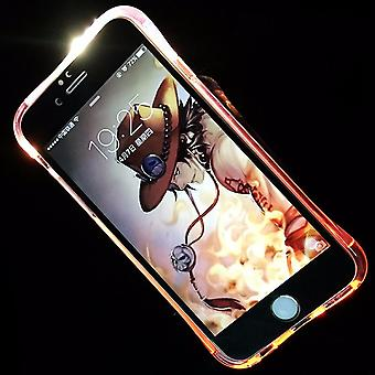 Mobile case LED Licht call for phone Apple iPhone 8 plus pink
