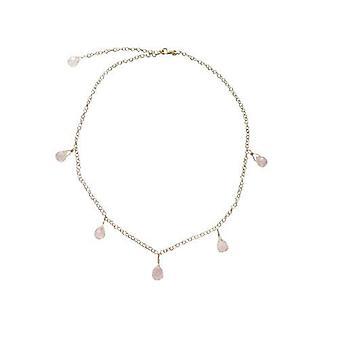 Gemstone chain women's NORA NOVA Rose Quartz necklace gold plated