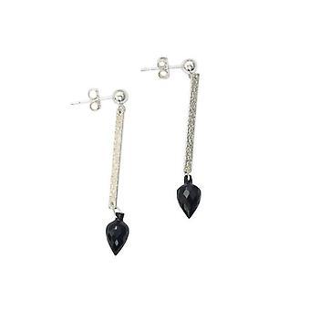 Oorbellen zilver zwart shell drop oorbellen 925 zilver Apollo