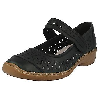 Ladies Rieker Casual Soft Leather Everyday Shoes 41389