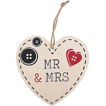 Something Different Mr And Mrs Hanging Heart Sign