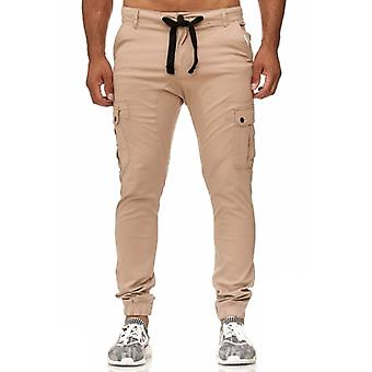 Tazzio fashion mens chinos beige