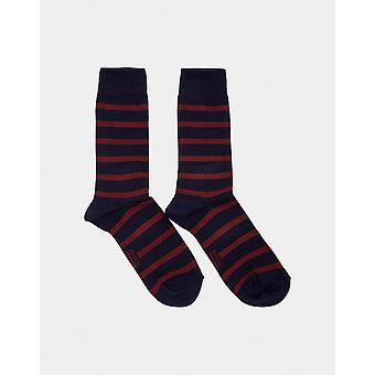 Armor Lux Chaussettes Homme Socks Navy & Burgundy - Navy