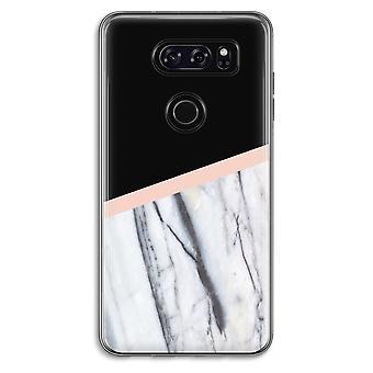 LG V30 Transparent fodral (Soft) - en touch av persika