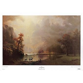 Sierra Nevada morgen plakatutskrift av Albert Bierstadt (38 x 25)