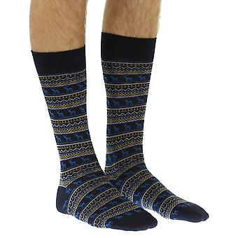 Stag men's combed cotton dress sock in navy | By Scott-Nichol