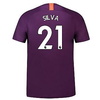 Camisa de futebol de Nike terceira 2018-2019 man City (Silva 21)