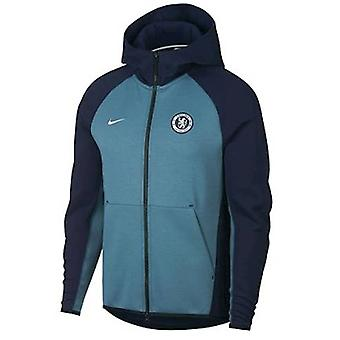 2018-2019 Chelsea Nike Techfleece Authentic Hoody (Obsidian)