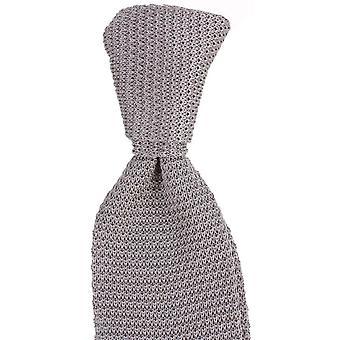 Knightsbridge Neckwear Plain Silk Knitted Tie - Silver