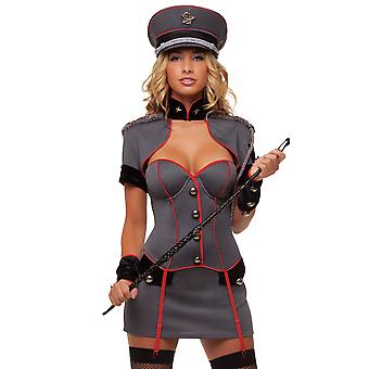 Starline Women's Naughty Army General 4 Piece Costume Outfit Russian Style Rank