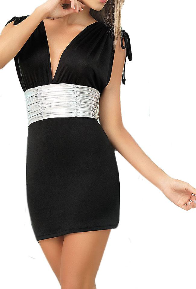 Waooh - Fashion - Short Dress neckline sash