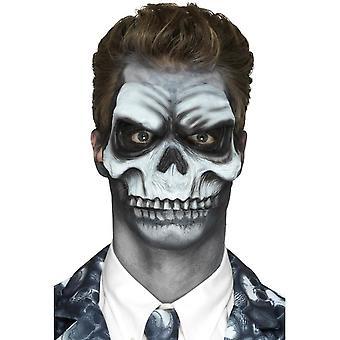 Foam Latex Skull Head Prosthetic, White, with Adhesive
