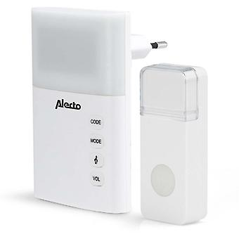 AC plug-in Wireless Dörrklockset with LED Indicator-White