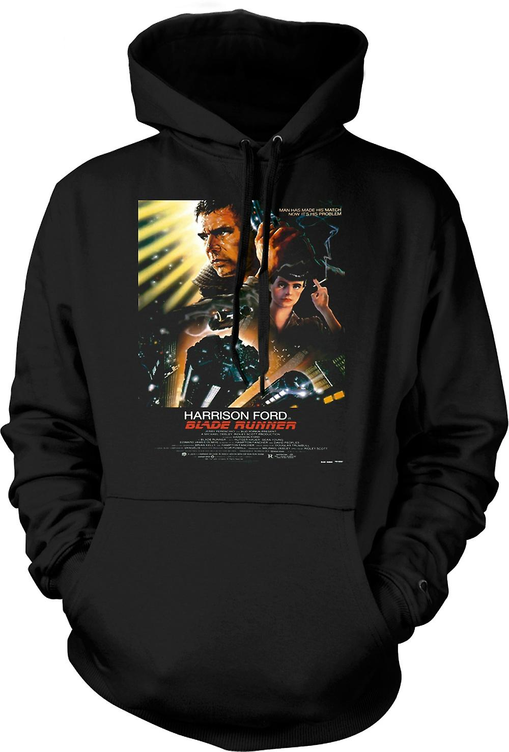 Mens Hoodie - Blade Runner - Sci Fi - Movie - Poster