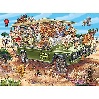 Jumbo Puzzel Wasgij Orginal 31 Safari Spektakel 1000 Stukjes