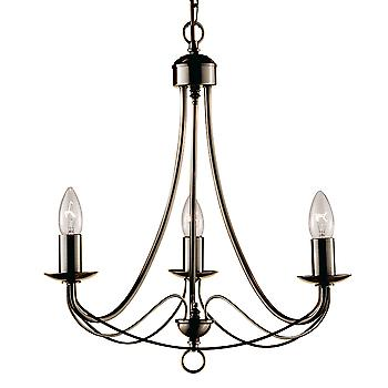 Searchlight 6343-3AB Maypole 3 Light Ceiling Pendant