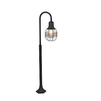 QAZQA país lámpara poste negro - Guardado