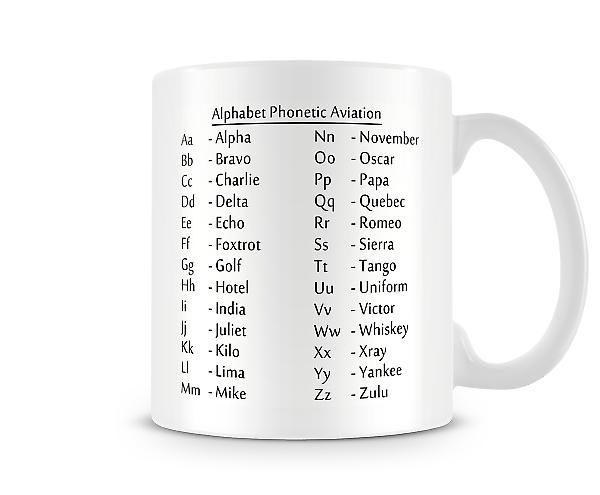 Alphabet Phonetic Aviation Mug
